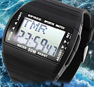 Men's Water Resistant LCD Rubber Digital Sports Watch(Assorted Colors)