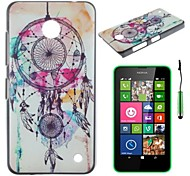 Dreamcatcher On White Pattern PC Hard Back Cover Case with Touch Pen for Nokia Lumia N630