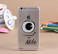 caso padrão criativo padrão TPU transparente macio para iphone 6 / 6s