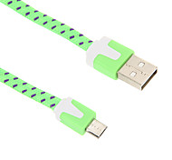 Micro USB 200CM Weaving Noodle Charger Cable