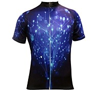 JESOCYCLING® Cycling Jersey Men's Short Sleeve Bike Breathable / Quick Dry Jersey / Tops Polyester Fashion Spring / Summer Cycling/Bike