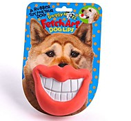 Funny Lip Shaped Rubber Chewing Toys for Pet Dogs