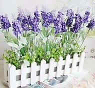 Пластик Светло-голубой Искусственные Цветы