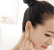 Korean Diamond and Pearls Round  Earring