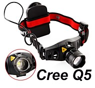 Headlamps Mode 300 Lumens Adjustable Focus / Waterproof / Impact Resistant Cree XR-E Q5 AAACamping/Hiking/Caving / Everyday Use /