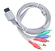 1.8m 5.904ft wii 30pin macho a macho 5RCA hd video cable de conexión de la pantalla de televisión de audio para wii wii