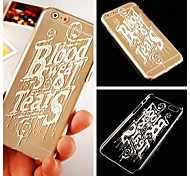 Paint English Letter Pattern Transparent Back Case for iPhone 6