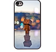 In the Lamp Light Wooden Man Design Aluminum Hard Case for iPhone 4/4S