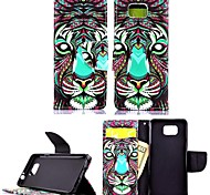 KARZEA™Colorful Lion PU Leather TPU Back Full Body Case Painting Card Holder Wallet Case for Samsung Alpha G850F