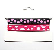 Costola poliestere 3/8 di pollice macchie colorate di stampa ribbon- inchiostro 1 yarde per rullo (due colori una carta)