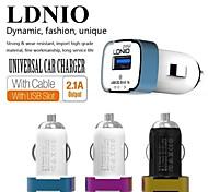 ldnio® 12v ~ 24V Dual USB isqueiro do carro tensão de segurança carregador para iphone / samsung e outros (5v-2.1a)