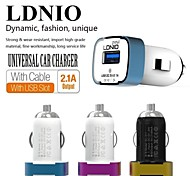 LDNIO® 12V~24V Dual USB Car Cigarette Lighter Charger Safety voltage for iPhone/Samsung and Others(5V-2.1A)