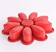 Sun Flower Shape Cake Molds,Silicone 27×4.5×1.8 CM(10.7×1.8×0.7 INCH)