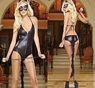 ragazza vernice nera in pelle di gatto ragazza costumi sexy sm uniforme