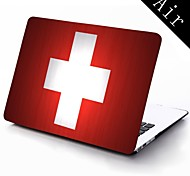 Switzerland Flag Design Full-Body Protective Plastic Case for 11-inch/13-inch New Mac Book Air