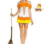 orange und weiße Hexe Frauen Halloween-Kostüme