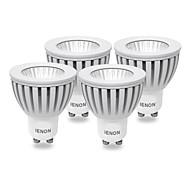 4 Stück IENON® LED Spot Lampen MR16 GU10 3W 240-270 LM 3000 K COB Warmes Weiß AC 100-240 V