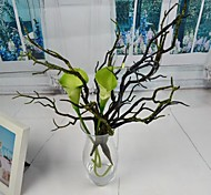 "Art Blue Green Artificial Tree Branch 3 Pieces/Lot Stem 12.98"" for Home Decoration"