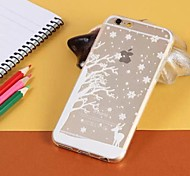 Christmas Tree Transparent TPU Pattern Soft Case for iPhone 6