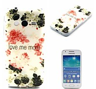 Love Me More Ink Painting Rose Pattern 0.6mm Ultra-Thin Case for Samsuang Galaxy ACE NXT G313H