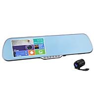 rétroviseur vidéo de voiture miroir, caméra de voiture de connexion wifi android navigation fucntion double lentille voiture enregistreur