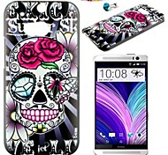 Skull Pattern PC Back Cover Case With Dustproof Plug for HTC One(M8)