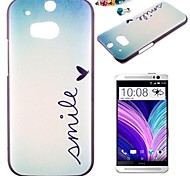 The Leaves Pattern PC Back Cover Case With Dustproof Plug for HTC One(M8)