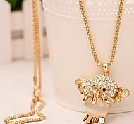 gemma elefante catena collana maglione diamante # 71-1