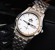 orologio quadrante rotondo in acciaio a doppia precisione calendario banda impermeabile moda quarzo donna (colori assortiti)