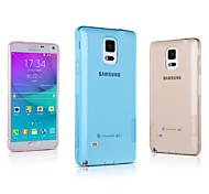 For Samsung Galaxy Note Ultra-thin / Transparent Case Back Cover Case Solid Color TPU Samsung Note 4