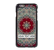 personalizzato phone case - tappeto caso di disegno del metallo rosso per iPhone 6