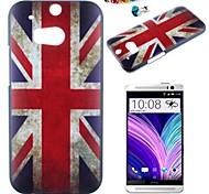 el patrón de bandera británica pc caso de la contraportada con el enchufe a prueba de polvo para un htc (M8)