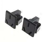 DIY 3-Pin 16A250V Power Socket Outlet (2pcs)
