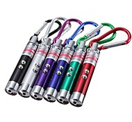 LS173 4 in 1 UV Light White LED Red Laser Keychain 3xLR44(Random Color)