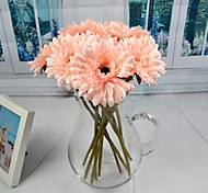 "White Pink Artificial Gerberas 6 Pieces/Lot 12.59"" for Home Decoration"