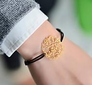 Mode féminine fleur estampage bracelet élastique