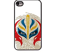 Chinese Face Pattern Aluminum Hard Case for iPhone 4/4S