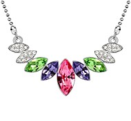 Vanilla Lady Elegant Short Necklace Plated With 18K True Platinum Rose Crystallized Austrian Crystal Stones