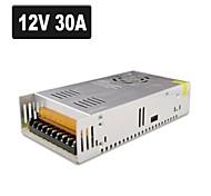 SPD-350w accesorios cctv 12v30a sistema de cámara de metal transformador de alimentación - plata (ac 110-220v)