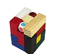 Puzzle Three-Dimensional Domino Throw Dice Take Wood