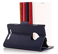 For Nokia Case Card Holder / Wallet / with Stand Case Full Body Case Solid Color Hard PU Leather Nokia Nokia Lumia 830