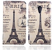 5 Inch Tower Pattern PU Wallet Leather Case with Stand  for Motorola Moto G2
