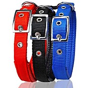 Adjustable Nylon PUre Colour Collar for Pet Cats and Dogs(Assorted Colours,Sizes)