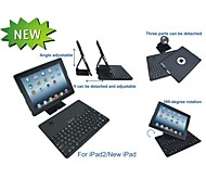 360 gire desmontable caso teclado inalámbrico bluetooth para el ipad 2/3/4 (color clasificado)