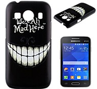 For Samsung Galaxy Case Pattern Case Back Cover Case Black & White PC Samsung Ace Style LTE