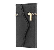 Unique Zipper PU Leather Wallet Magnetic Flip Hard Case Cover Card Holder for Apple iPhone5/5S