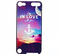 Anchor I Love You Pattern PC Hard Case for iPod Touch 5