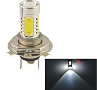 Carking™ Auto H4 11W 5SMD LED Lens Headlamp Foglight Bulb-White(12V 1PC)