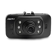 "2.7"" LCD Screen 120°Wide Angle Lens Car Dvr 6-LED"
