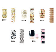14pcs belle no.37-41 style cartoon Stricker nail art de la série D (modèle assortis)